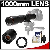 Vivitar 500mm f / 8.0望遠レンズwith 2x Teleconverter (= 1000mm) +キットfor Nikon d3200, d3300, d5300, d5500、d7100、d7200、d610、d750、d810カメラ