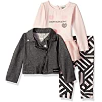 Calvin Klein Baby Girls 3 Pieces Tunic Legging Set with Jacket