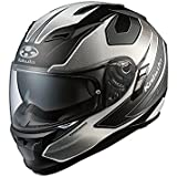 オージーケーカブト(OGK KABUTO) バイクヘルメット フルフェイス KAMUI-2 STINGER (スティンガー) フラットブラックホワイト L(59-60cm)