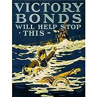 War Wwi Canada Victory Bonds Llandovery Disaster Red Cross Art Print Poster Wall Decor 12X16 Inch 戦争カナダ勝利クロスポスター壁デコ