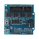 uxcell  デジタルアナログモジュール UNO MEGAセンサー サーボモーターシールド V5電気部品 1個入り