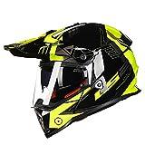オフロード バイクヘルメット ヘルメット バイク用 バージョン ダブルシールド PSC付き  YHZ-98[商品06/L]