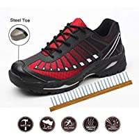 Safety Shoes, Steel Toe Cap Trainers Lightweight Mens Womens Safety Shoes Work Midsole Protection,37/EU