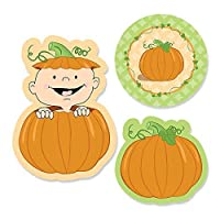 Big Dot of Happiness Little Pumpkin Caucasian - DIY Shaped Fall Baby Shower or Birthday Party Cut-Outs - 24 Count [並行輸入品]