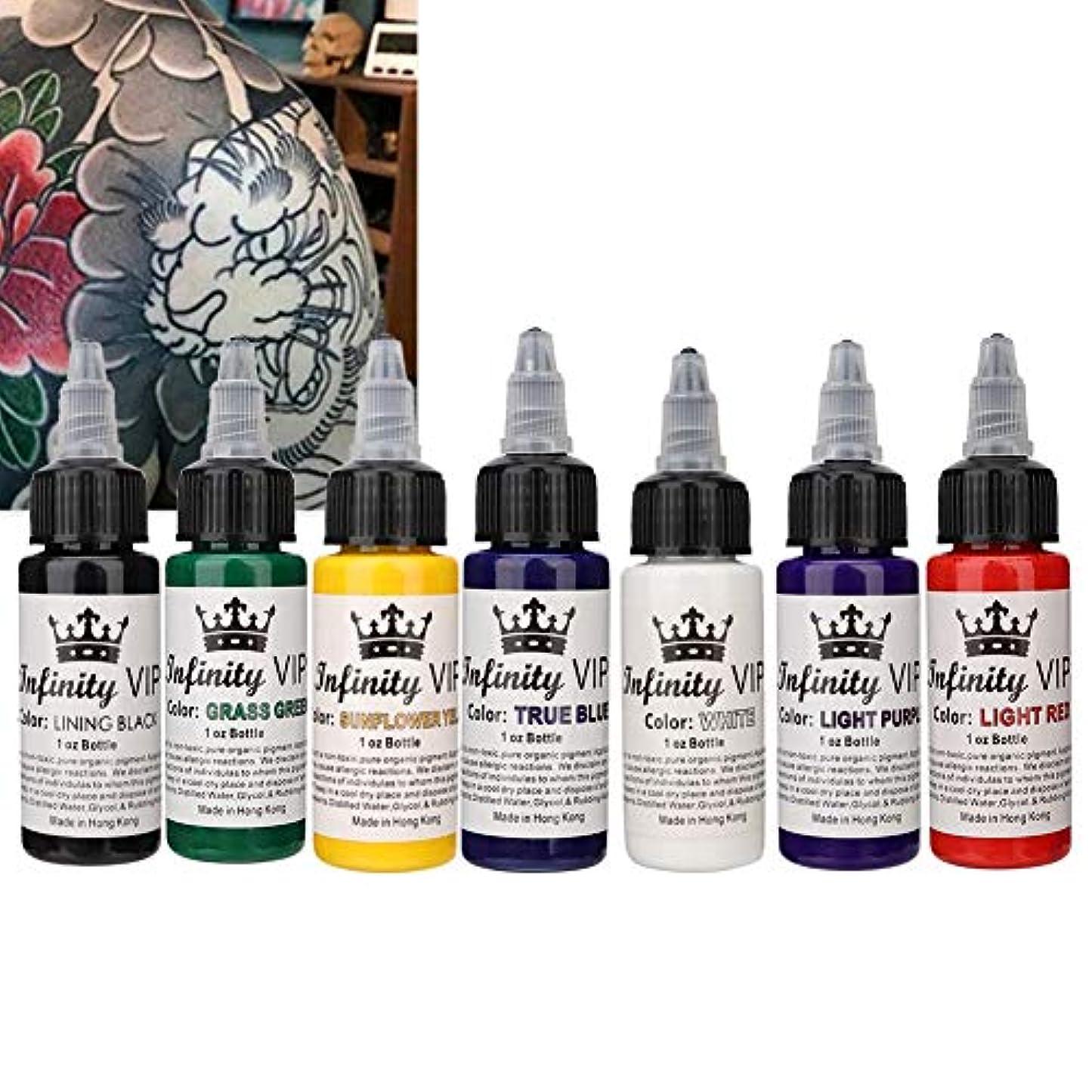 スパン事業時間厳守長持ちするタトゥーピグメントインク、30ml半永久的な簡単な着色タトゥーインク初心者またはタトゥーアーティストが使用するためのアクセサリーツール(7PCS)