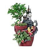 Lovoski 魔法の城 多肉植物 プランター 収納ボックス 盆栽 植木鉢 オフィス飾り 置物 ギフト 2色選べ - #2, 22 x 13 cm