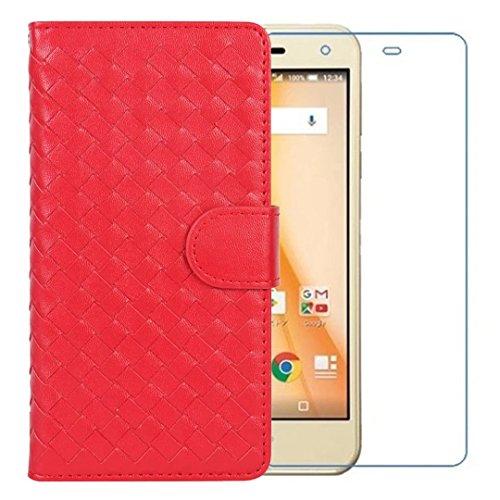 LG V30+ L-01K ケース isai V30+ LGV35 カバー JOJO L-02Kスマホケース LG V30+ (L-01K) / JOJO (L-02K) / isai V30+ (LGV35) スマホカバー 手帳 isai V30+ LGV35 ケース 手帳型 L-01K カバー LG V30 ケース L-02K カバー 手帳型 LG V30 手帳型カバー 収納 カードいれ 手帳型ケース スマホケース スタンド機能 衝撃 擦り傷防止 ストラップホール加工 衝撃 擦り傷防止 GMUMU 【強化ガラスフィルム付き】 赤