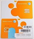AT&T 3G LTE プリペイド NANO SIMカード【SKU 4488A】 並行輸入品 ナノSIMカード [並行輸入品]