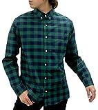 [シネマ] シャツ カジュアルシャツ メンズ 長袖 ボタンダウンシャツ チェック ストライプ 柄5 LL