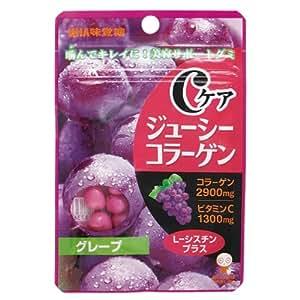 味覚糖   Cケアジューシーコラーゲン(スタンドパック)グレープ   40G×6袋