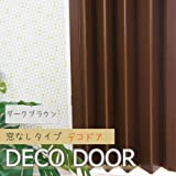 パネルドア 窓なしタイプ デコドア/▼幅95cm×高さ174cm/■ダークブラウン【L5002】/JQ