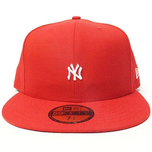 (ニューエラ) New Era ベースボールキャップ 59FIFTY ミニロゴ NY ヤンキース 11409423 7-1/2(59.6cm) レッド/ホワイト