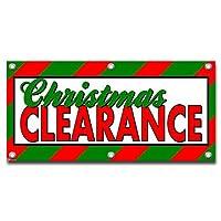 クリスマスクリアランス - ショップビジネスサインバナー