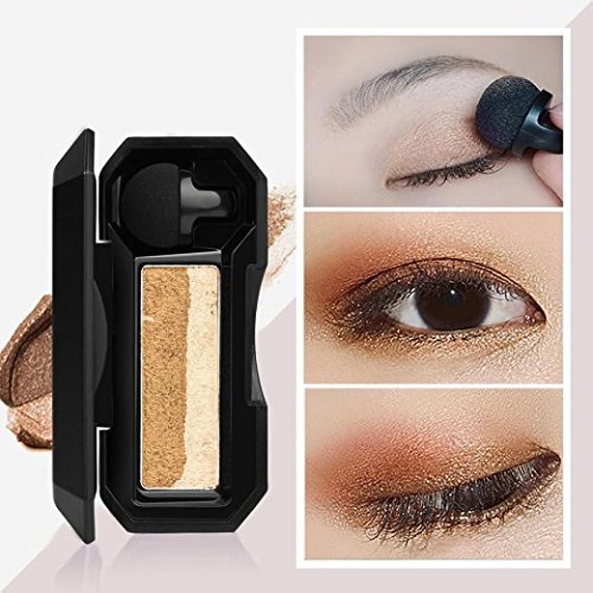 ビューティー アイシャドー BOBOGOJP 女性 2色 可愛い デザイン ミニスタンプアイシャドーパレット 携帯便利 極め細かい 化粧パウダー 持続性 スモーキーメイク (21D)