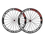 スーパーチーム カーボン 自転車ホイール 50mm クリンチャーロードホイール 700C ロマット仕上げ
