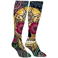 Sugar Skull Smile Athletic Socks Knee High Socks For Men&Women Warmer Stockings Tube Long Stockings Casual Socks