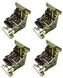 折れ脚 金具 折りたたみ テーブル 4個 セット DIY 折脚金具 座卓等 アンティーク