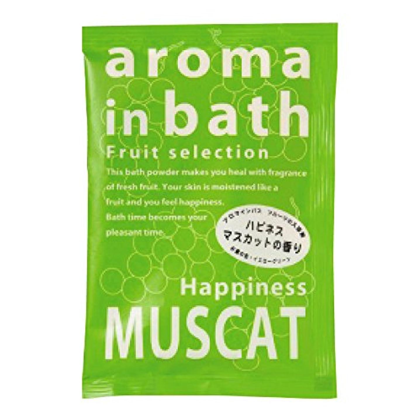 ハッピー原理小数入浴剤 アロマインバス(マスカットの香り)25g