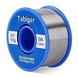 はんだ 鉛フリーはんだ Tabiger はんだワイヤー フラックス(ロジンコア)含む ハンダ 巻はんだ ハンダワイヤー 無鉛はんだ 100g 0.8mm