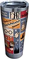 Tervis 1293208 Harry potter-charmsタイルステンレススチールInsulated Tumbler with Clear andブラックハンマー蓋、30oz、シルバー