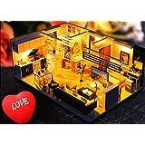 Magic House(マジック ハウス)The Loft Villa ドールハウス ミニチュア LEDとオルゴール(カノン)付属 防塵ケース付属 手作りキットセット