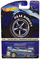 Hot Wheels Die Cast Real Riders #6/18 Custom Chevy Greenbrier Sports Wagon NIP 2015