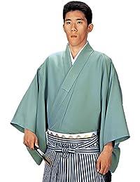 袴下着物 きもの メンズ 男性用 仕立上がり 舞台 舞踊 大きいサイズ 緑 5549