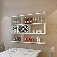 シュウクラブ@ ミルク白ワインキャビネット壁掛け装飾フレームワインラック壁掛けレストランレストラン装飾品ワインラック現代ミニマリストワインクーラーワインラティス (サイズ さいず : 140cm)