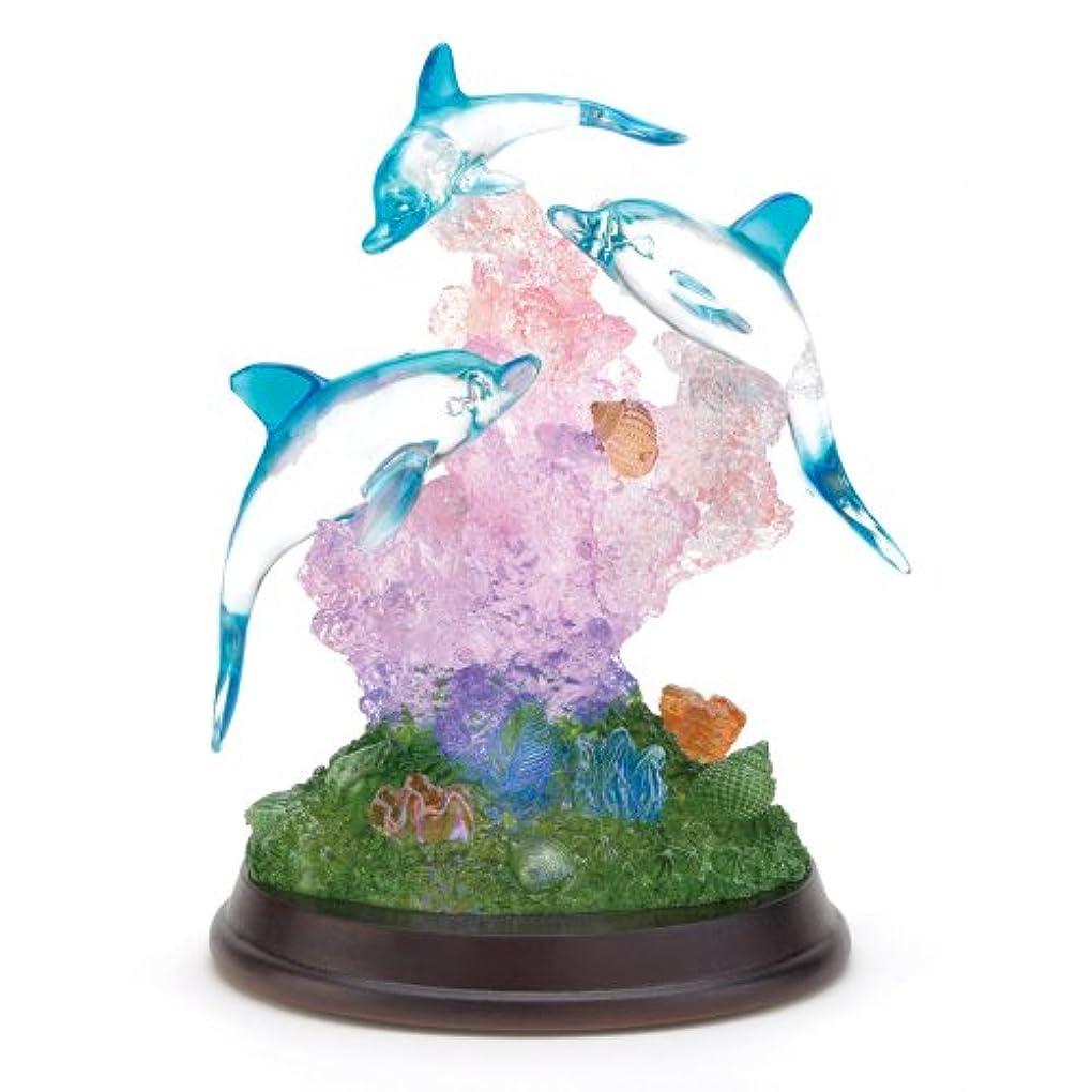 生物学飢えた浴室SWM 38031 Light-Up Dolphin Sculpture