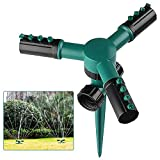 芝生スプリンクラー 自動散水器 灌漑システム 散水システム 自動360回転 調整可能なノズル 花園の打ち水、庭の灌漑、農業畑の灌漑、広場や屋根など冷却する 庭スプリンクラー