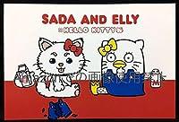 1~2個銀魂×Sanrio characters 東京駅限定購入特典 ポストカード SADA AND ELLY サンリオコラボ 定春 エリザベス SADA & ELLY