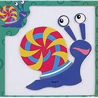 Tuersuer 早期子供用 おもちゃ 創造的 教育的 磁気パズル 早期学習 数字の形 カラー 動物玩具 子供への素晴らしいギフト (Snail)