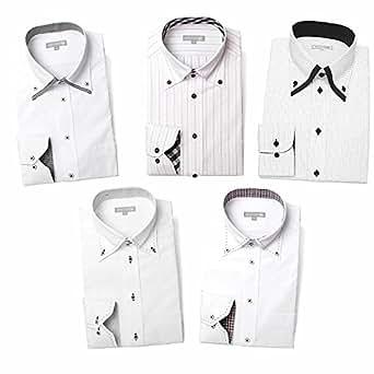 (ドレスコード101) ドレスシャツ 5枚セット 長袖 ワイシャツ 形態安定(トップ芯加工) メンズ Yシャツ