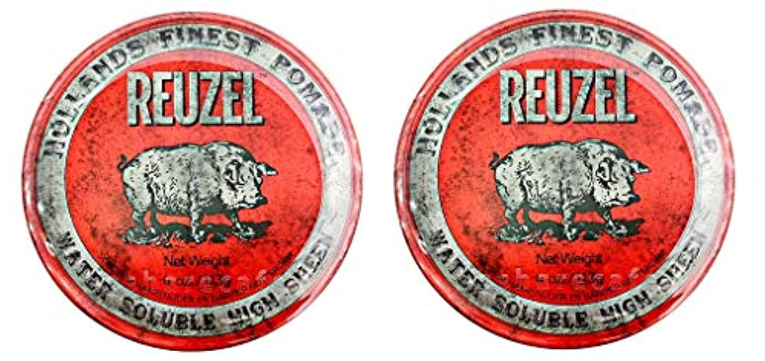 慢性的テレックスようこそ【2個セット】ルーゾー REUZEL ミディアムホールド レッド HIGH SHINE 113g