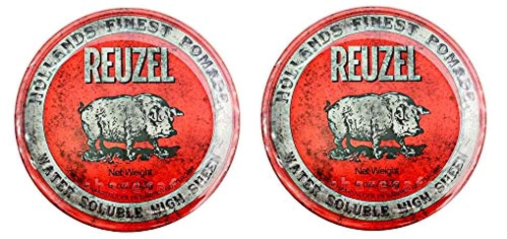 重要な役割を果たす、中心的な手段となる眉をひそめる杖【2個セット】ルーゾー REUZEL ミディアムホールド レッド HIGH SHINE 113g