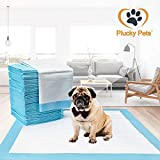 Plucky Pets - 50/100/200/400 Training and Puppy Pads Pee Pads for Dogs 60x60cm - Super Absorbent & Leak-Free (200 Pads, Blue)
