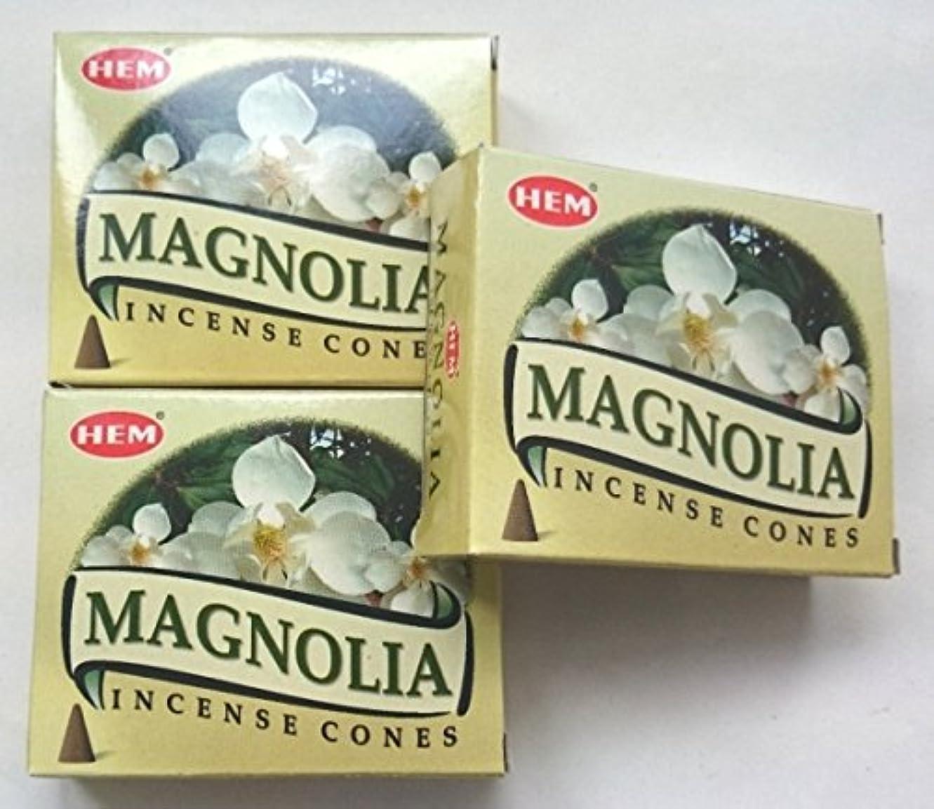 アデレード悪化させるオフセットHEM(ヘム)お香 マグノリア コーン 3個セット