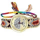 ミサンガ ウォッチ ブレスレット 腕時計 バングル カラフル(A4)