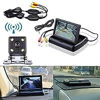 MIFO 4.3インチ TFT 液晶 モニター 搭載 バックカメラ セット 無線 有線 両方 対応 12V車用 HR-MOT43-WBT100-BK006