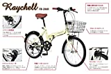Raychell(レイチェル) 20インチ 折りたたみ 自転車 FB-206R シマノ6段変速 フロントLEDライト付 [メーカー保証1年] ブラック