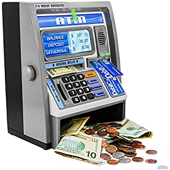 [ベンフランクリントイ]Ben Franklin Toys Kids Talking ATM Machine Bank with Electronic Coin Counter, One Size, Silver [並行輸入品]