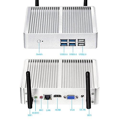 『東雲社(しののめしゃ)超小型ベアボーンPC(アルミ ファンレス ミニ)Core I5 4200U 2.2GHzデュアルコア8GB DDR3L RAM 120G 300M WiFi 高性能 シルバー』の2枚目の画像