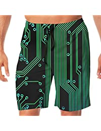 メンズ水着 ビーチショーツ ショートパンツ グリーンテクノロジー スイムショーツ サーフトランクス 速乾 水陸両用 調節可能