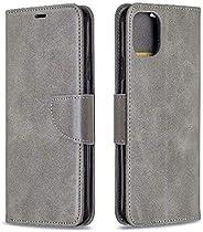 i Phone XR 手帳型ケースグレー強化ガラス&タッチペン付き364-2-1