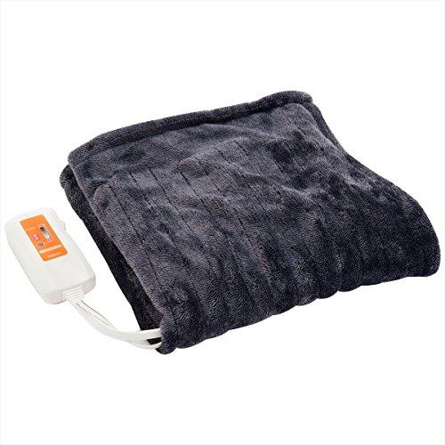 山善(YAMAZEN) ふんわりやわらか 電気ひざ掛け毛布(120×60cm) ミックスフランネル素材 YHK-44MF