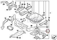 BMW純正トランク床左