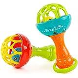 GZQ 赤ちゃんのガラガラ 鈴を振る玩具 赤ちゃんのおもちゃ ベビー歯ぎしり棒 新生児 知育玩具 色ランダム