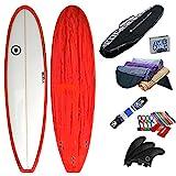 SCELL(セル) ファンボード 6'8 赤 初心者7点セット サーフボード サーフィン SET ステップアップモデル
