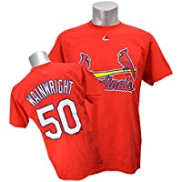(マジェスティック)Majestic MLB カージナルス #50 アダム・ウェインライト Player Tシャツ (レッド)