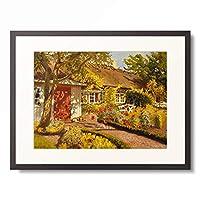オーラフ・ヴィゴ・ピーター・ランガー Oilaf Viggo Peter Langer 「The Garden Cottage. 1918」 額装アート作品
